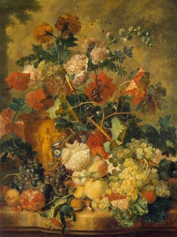 Ян ван Хёйсум (нидерл. Jan van Huysum; 15 апреля 1682, Амстердам — 8 февраля 1749, Амстердам) — нидерландский художник голландские натюрморты, живопись, искусство, красота, цветы