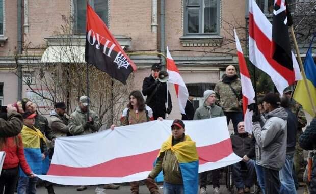 БЧБ-флаги на марше укро-нацистов в Киеве смотрятся органично