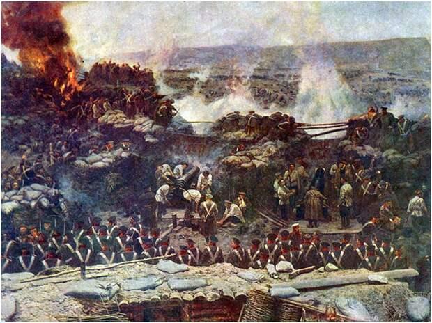 Оборона Севастополя (худ. Франц Рубо)