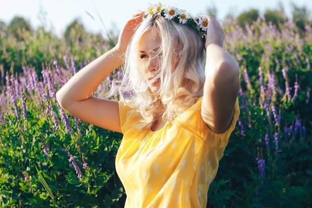 Блондинка В Поле Девушка Летом - Бесплатное фото на Pixabay