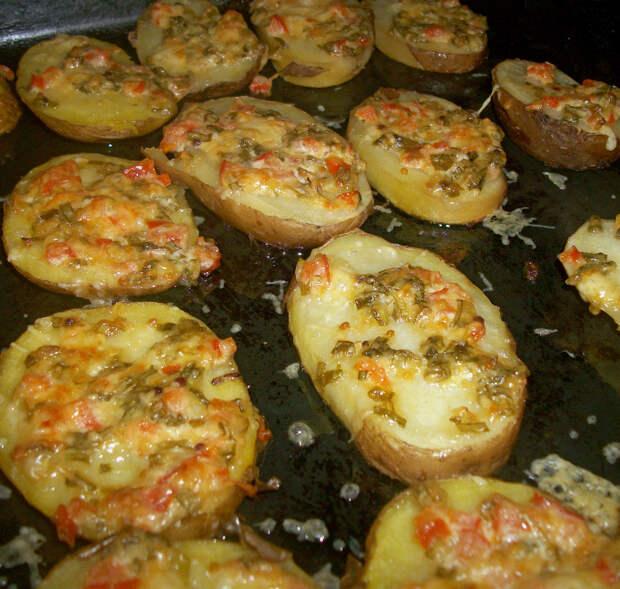 Картошечка с чесночком и зеленью
