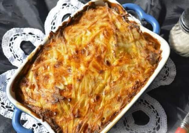 Мядзведзь (белорусская картофельная запеканка).