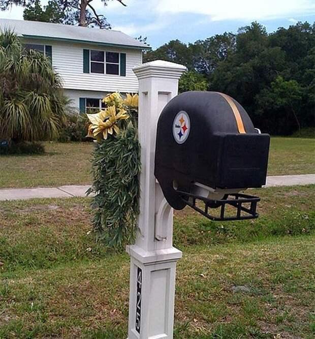 Посвящается любителям спорта postmail, красивые почтовые ящики, отличная идея, почта, почтовые ящики, почтовый ящик, ящики