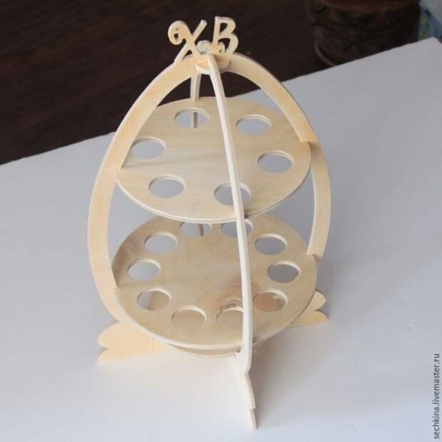 Подставка для яиц из фанеры