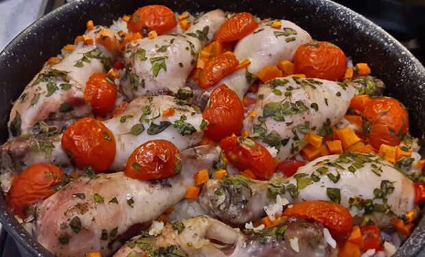 Курица с рисом для ленивых: ставим в духовку и просто ждем