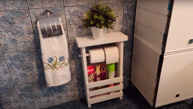 Красивая и удобная самоделка для ванной и туалета