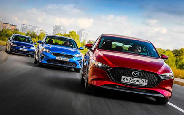 Новая Mazda 3, VW Golf и Kia Ceed: большой тест