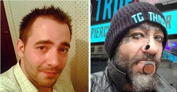 Британец избавился от депрессии, кардинально изменив свою внешность