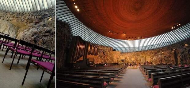 Церковь Темппелиаукио (1969), Хельсинки, Финляндия.