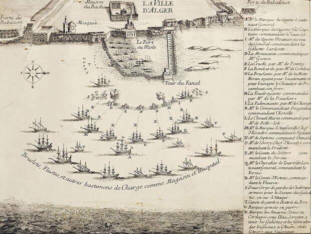 План бомбардировки Алжира в 1683 году. buccaneersreef.com - Франция против Берберии: дипломатия и ярость | Военно-исторический портал Warspot.ru