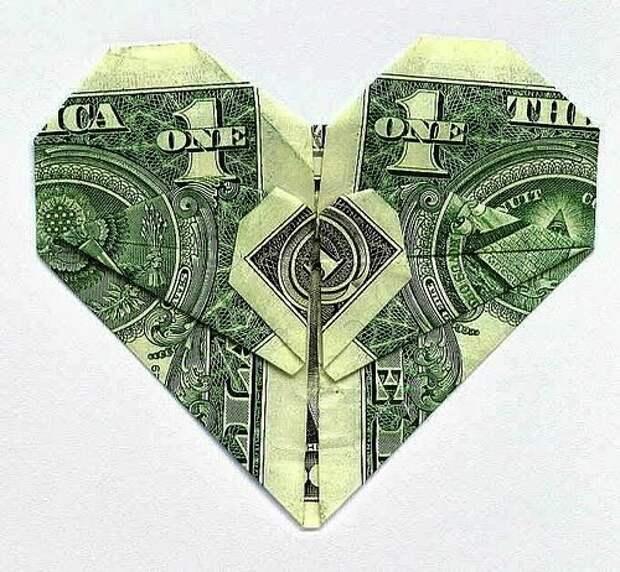 Оригинальный подарок из денег