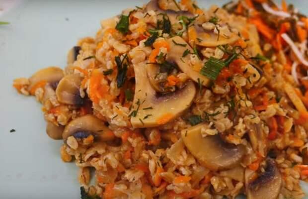 Ленивая овсянка с грибами: готовим к завтраку или на обед