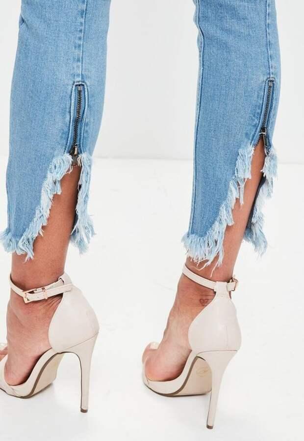 Идеи отделки низа джинсов