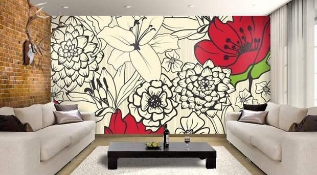 Много  стильных идей, как обновить стены дома, не вкладывая больших денег.