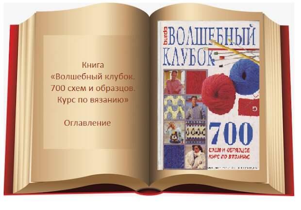 Книга Волшебный клубок. 700 схем и образцов. Оглавление