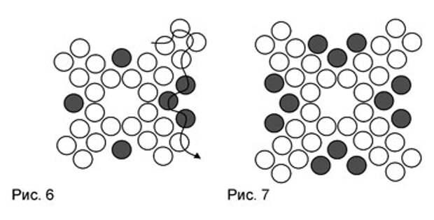 Бисерный кулон - схема плетения