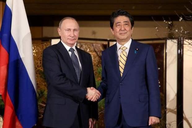 """Путин и премьер Абэ. Японцы надеются """"продавить вопрос""""."""