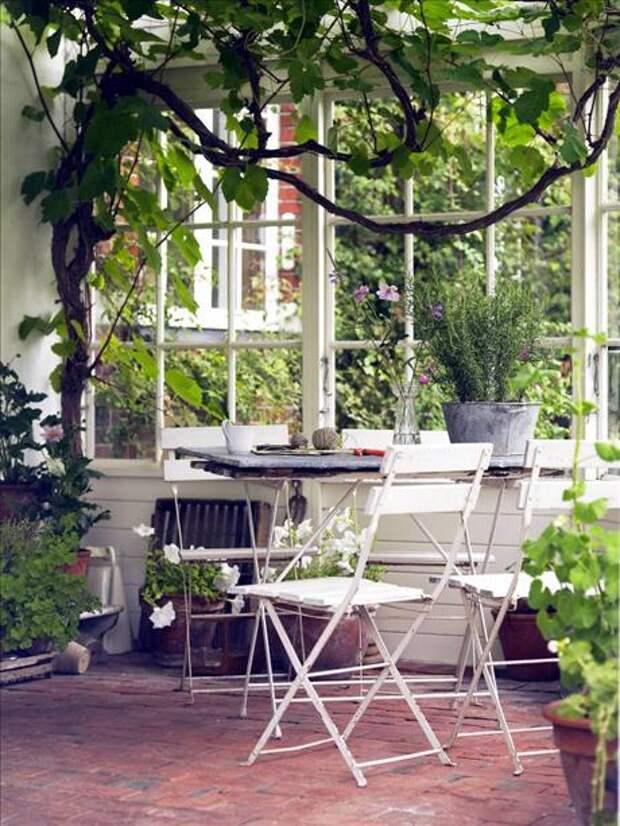Летние веранды и садовые дворики. Удивительная красота!