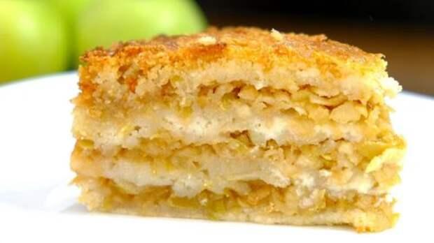 Как испечь нежнейший и самый вкусный яблочный пирог «Три стакана»