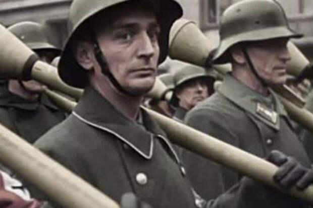 Последние резервы Фюрера отправляются на фронт: архивное видео из 1945 в цвете