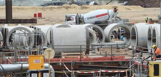 Работы по подготовке строительной площадки под приемный терминал газопровода «Северный поток — 2» вблизи Лубмина
