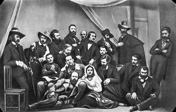 Снимок Левицкого с Гоголем. /Фото: i.mycdn.me