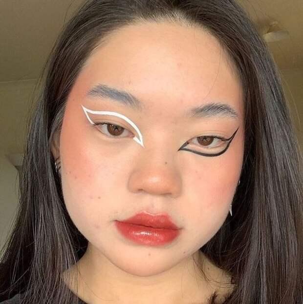 Цветные стрелки на глазах