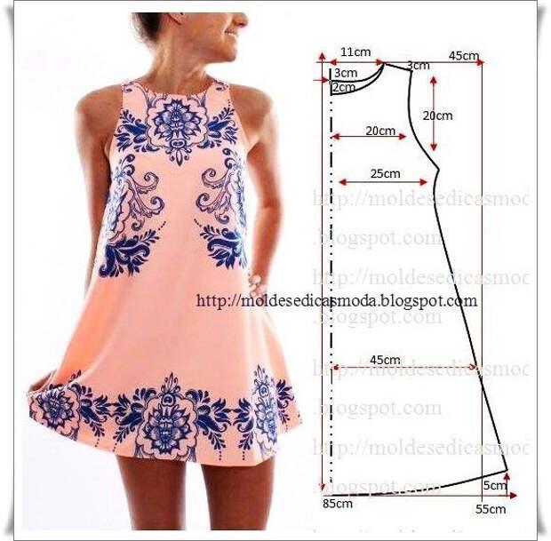 Летние платья- Простые выкройки №5