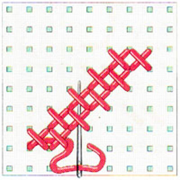 Вышивка крестиком по диагонали. Двойная диагональ слева направо (фото 14)