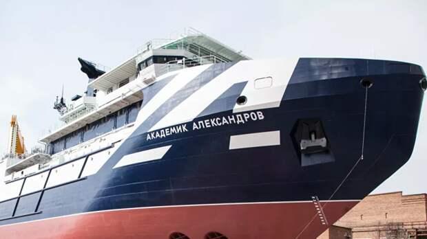 В Белом море прошли испытания исследовательского судна «Академик Александров»