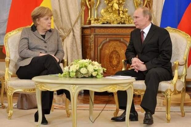 Путин и Меркель обсудили совместную работу в рамках «Нормандской четверки»