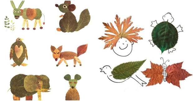 Собирайте листья и творите красками осени