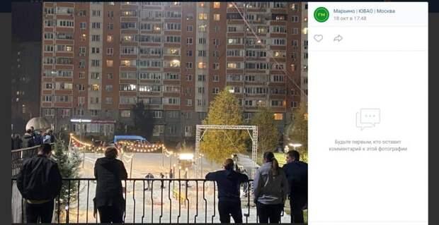 Фото дня: «Первый снег» выпал в Марьине