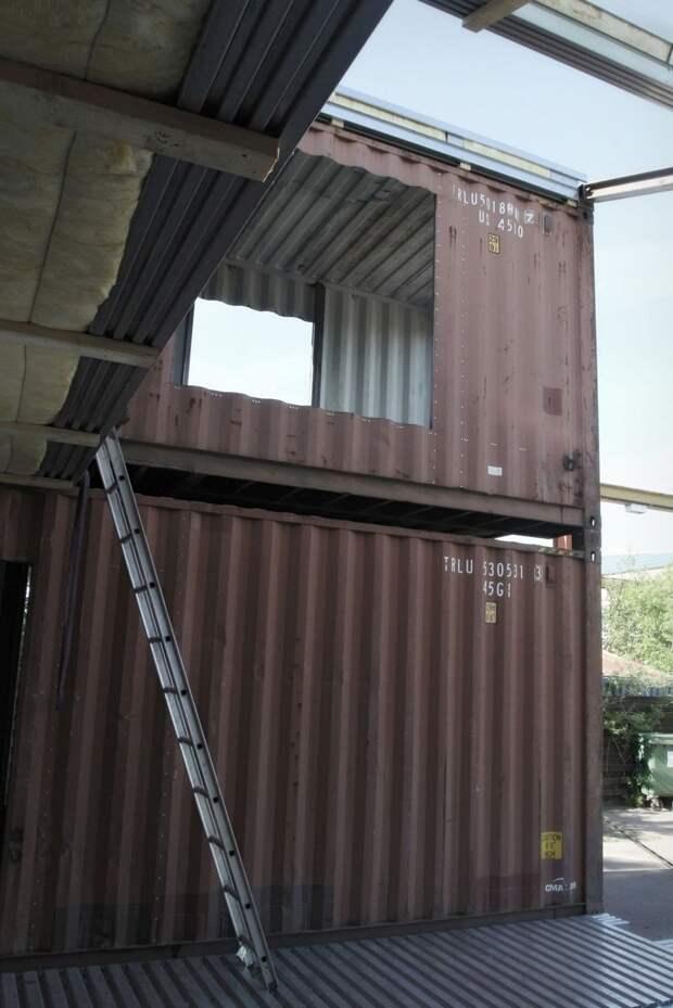 Жилой дом из трех контейнеров архитектура, дизайн, дом, жилой, интерьер, контейнер