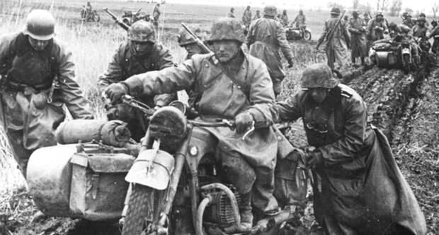 Мотоциклисты вермахта
