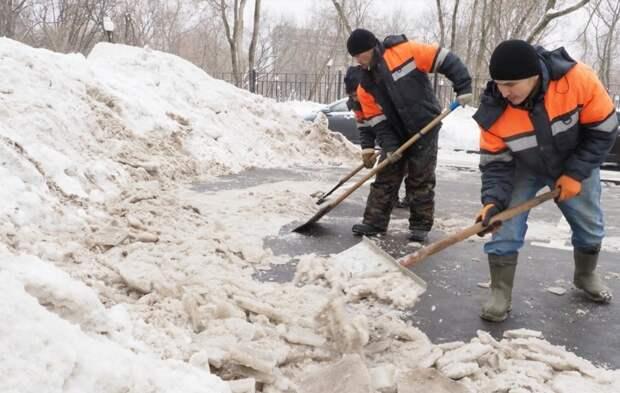 Снежные навалы в Новотушинском убраны — Жилищник