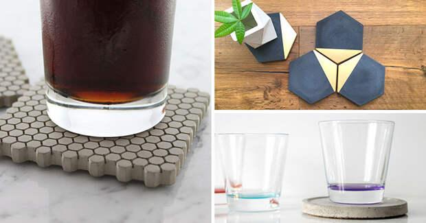 7 комплектов бетонных подставок, которые защитят ваш стол, выглядя стильно