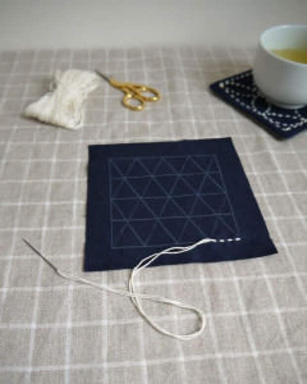 Секреты японского искусства в вышивке сашико и гладью