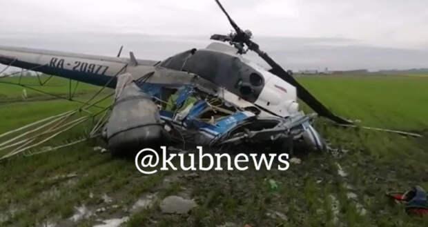 В Северском районе Кубани разбился вертолет