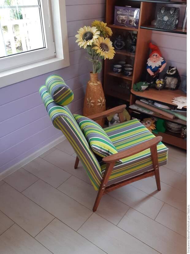Красивое креслице? Посмотрите, из чего я его сделала!