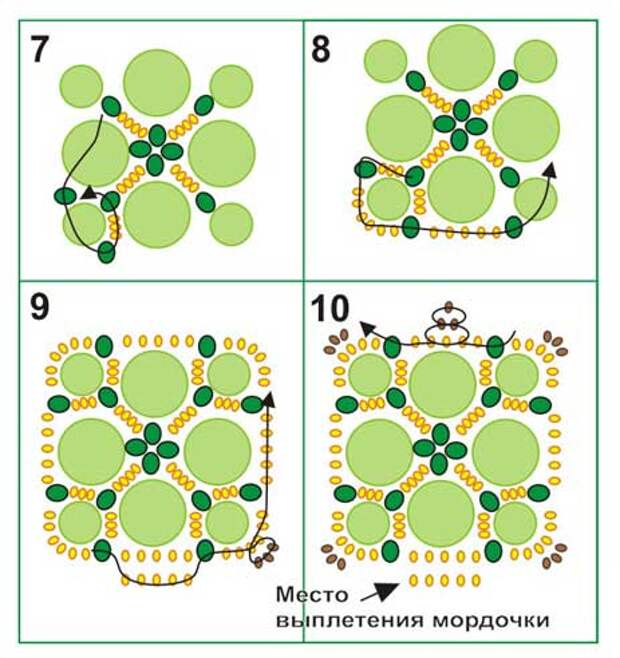 Схема черепашки из бисера своими руками