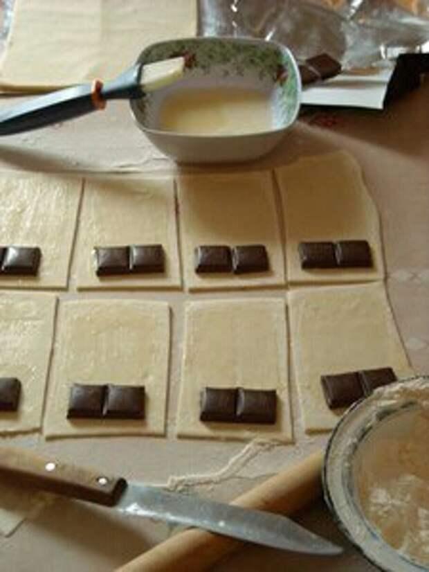 Оригинальный десерт из шоколадки