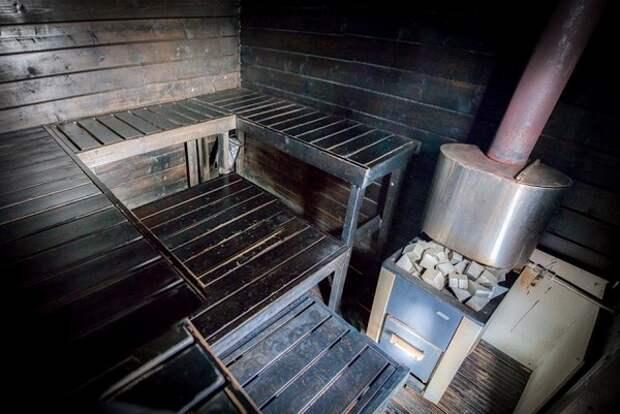 Парилка в деревянной бане фото