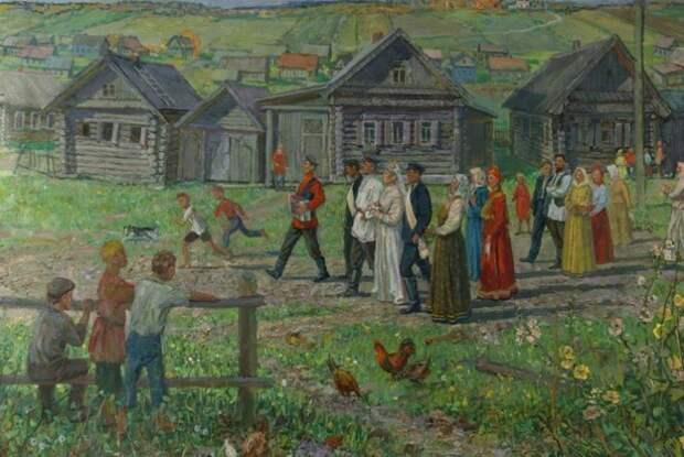 Свадьба в деревне была большим событием.