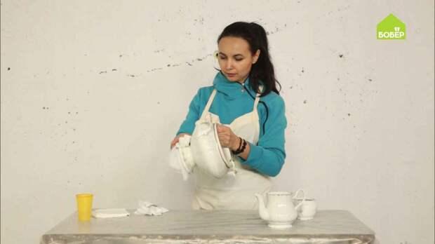 Старинная посуда в стиле фьюжн