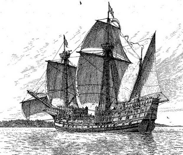 Один из самых крупных кораблей, построенных в правление Густава Вазы, — «Сторе Кравелен» - Густав Ваза строит флот   Warspot.ru