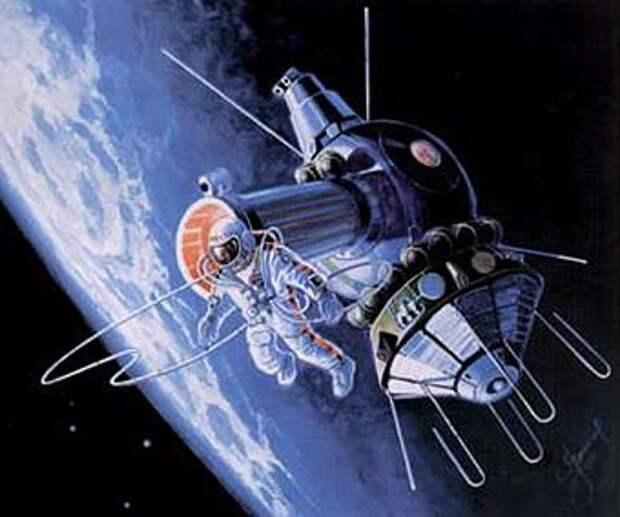 18 марта 1965 г. Алексей Архипович Леонов совершил первый в мире выход в открытый космос.