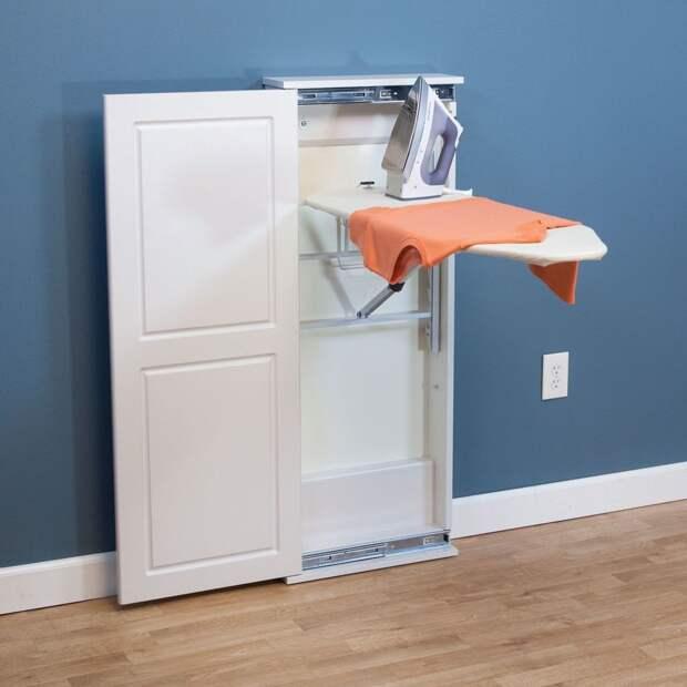 Идеи для хранения гладильной доски. Или 10 мест, где можно спрятать гладильную доску, фото № 22