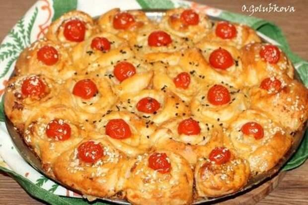 Пирог с начинкой в пряном соусе: фото шаг 14