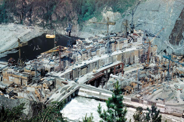 Перекрытие Енисея: историческая съемка 1976 года